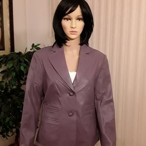 Pamela McCoy Purple Leather Blazer